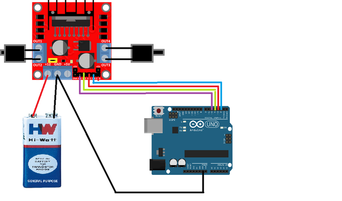 How To Make Arduino Bluetooth Control Car Using L298n Motor Driver on car battery wiring